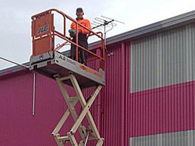 Factory TV Antenna Install